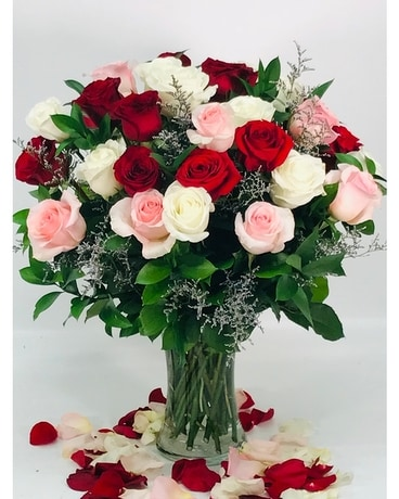 Eclectic Roses Flower Arrangement