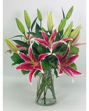Lovely Pink Lilies