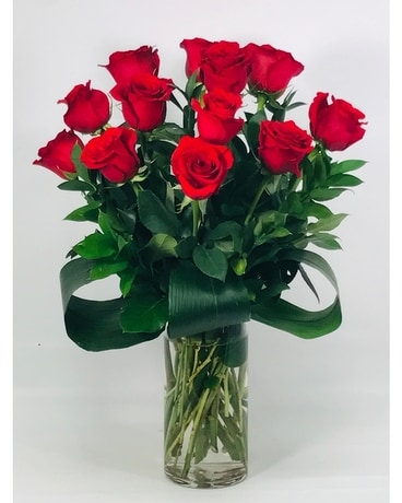 Premium 12 Red Roses Flower Arrangement