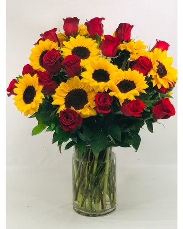Roses and Sunflowers Galore Flower Arrangement