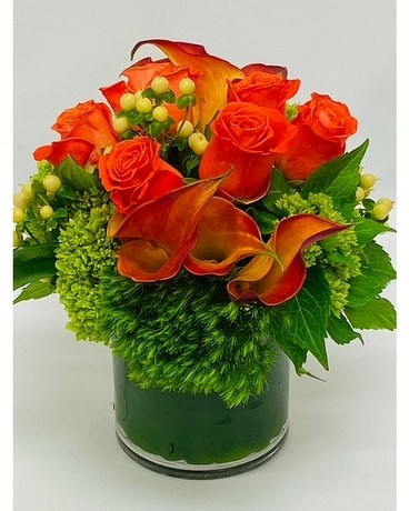 Uniquely Orange Flower Arrangement