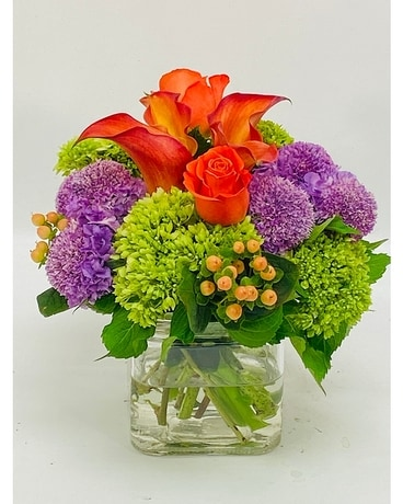 Opulent Orange Flower Arrangement