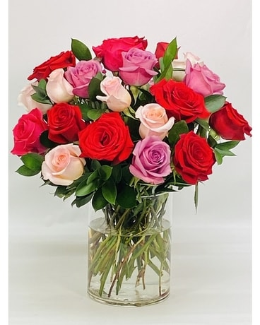 3 Dozen Assorted Roses Flower Arrangement