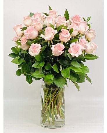 Premium Two Dozen Pink Roses Flower Arrangement