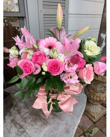 Pink Chiffon Flower Arrangement