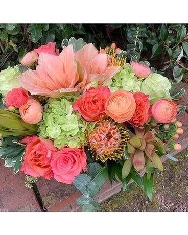 Apricot Sunset Flower Arrangement
