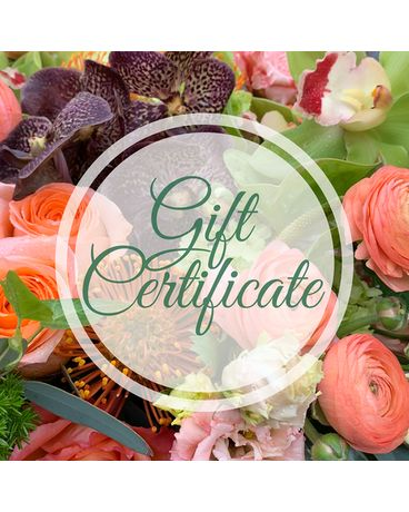 Gift Certificate Flower Arrangement