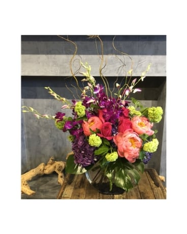Fancy in Fuschia Flower Arrangement