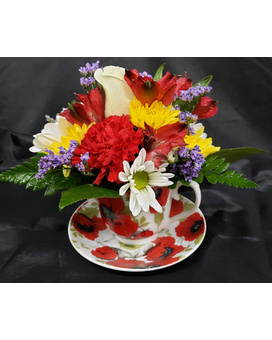 M & W Flower Shop's Teacup Bouquet