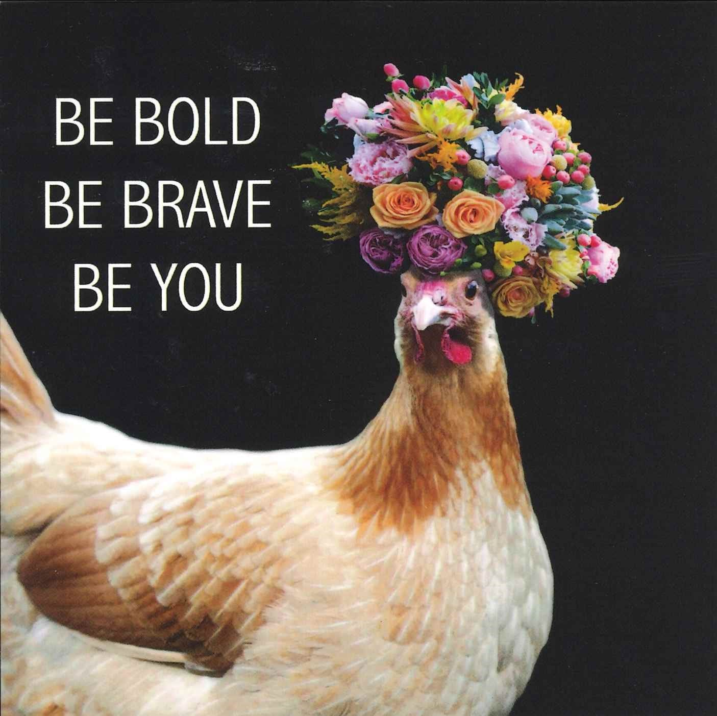 Positive Affirmation Card | Be Bold, Be Brave, Be You