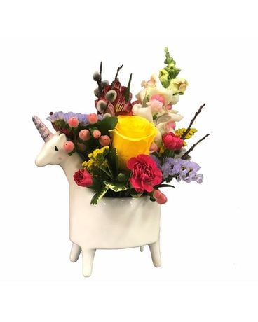 Lolly the Unicorn Floral Vase Arrangement Flower Arrangement