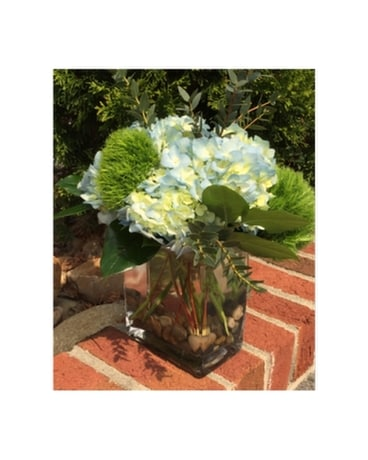 Blue Spring Blooms Flower Arrangement