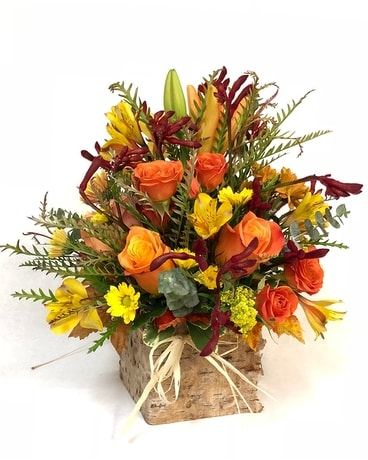 Autumn Birch Flower Arrangement