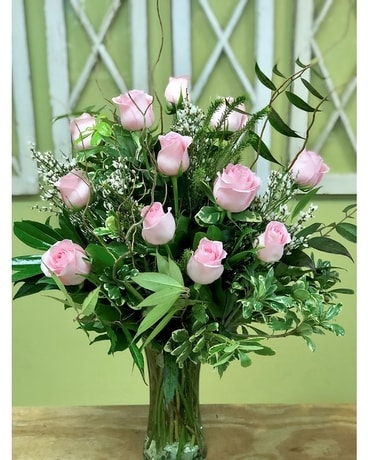 Precious Pink Roses Flower Arrangement