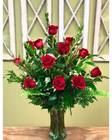 Dozen Red Roses Flowers