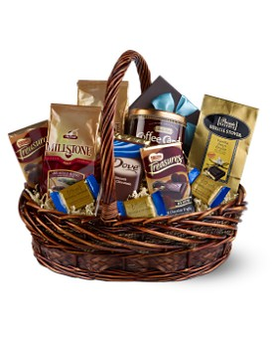 Chocolate & Coffee Basket Gift Basket
