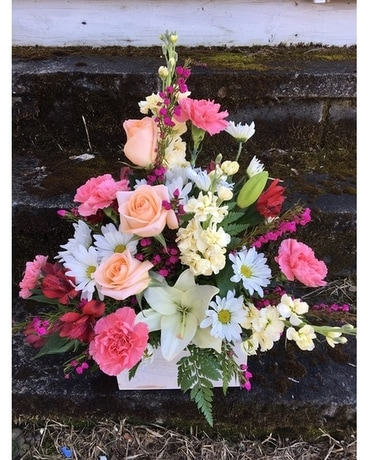Blush Box Flower Arrangement