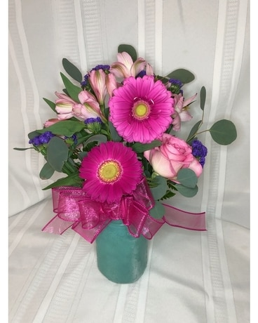 Turquoise Love Flower Arrangement