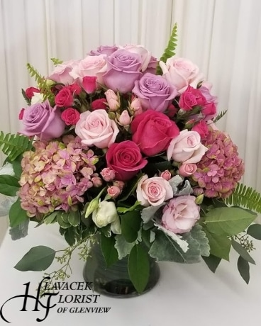 Pink Romance Flower Arrangement