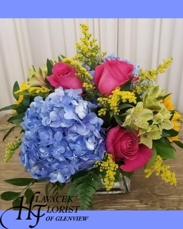 Bold Hues Flower Arrangement