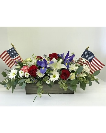 Patriot's Arrangement Flower Arrangement