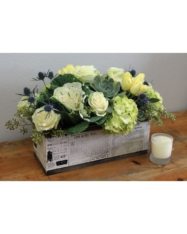 Floral Succulents Box Flower Arrangement