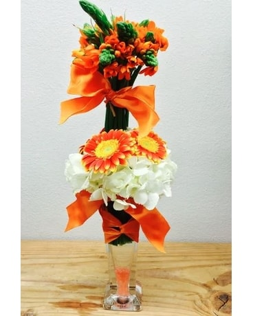 Tall Orange Flower Arrangement