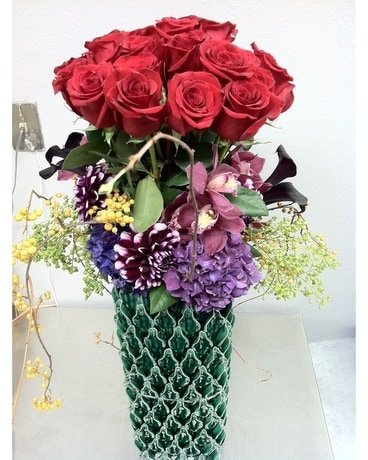 Grand Rose Arrangement Flower Arrangement