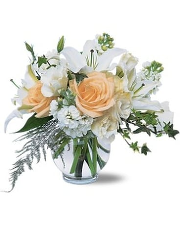 White Roses & Lilies Flower Arrangement