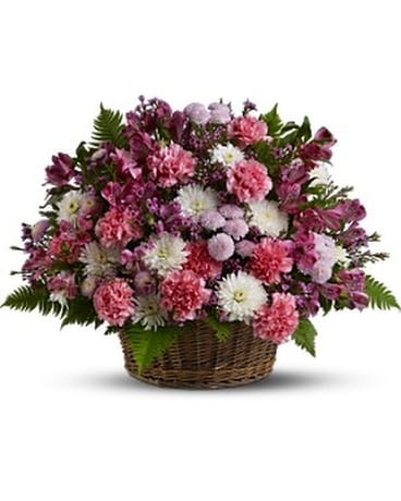 Garden Basket Blooms Flower Arrangement