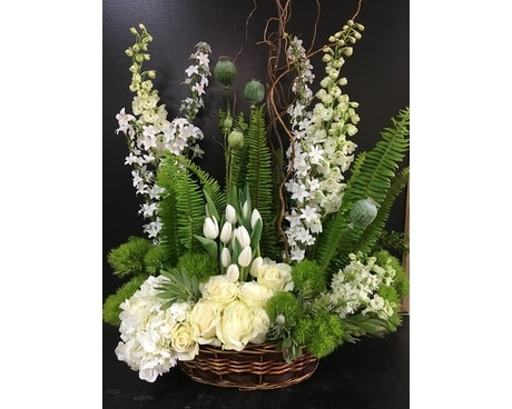 Springtime Whites Flower Arrangement