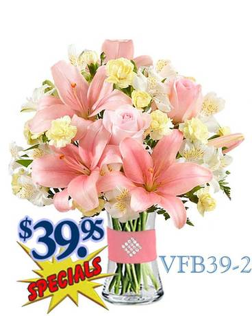Radiant Pink Flower Arrangement