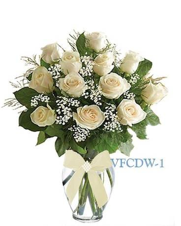 Roses delivery williston park ny vogue flowers classic dozen white roses mightylinksfo