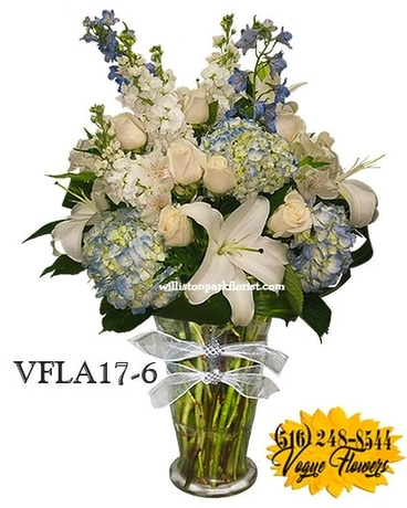 SIMPLY ELEGANT BLUE Flower Arrangement