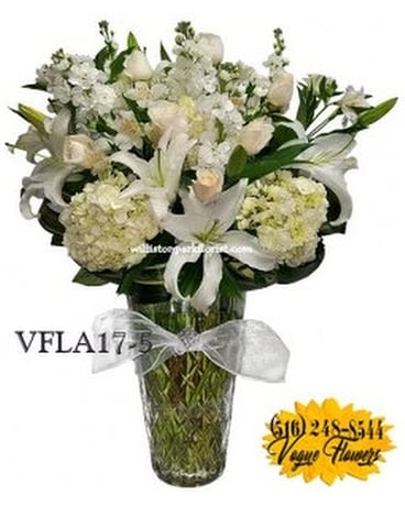 SIMPLY ELEGANT WHITE Flower Arrangement