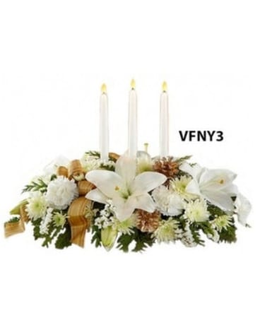 WINTER ELEGANCE CENTERPIECE Flower Arrangement
