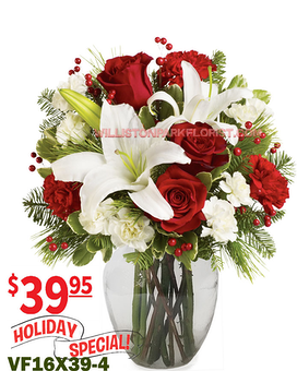 Season's Greetings Bouquet Flower Arrangement