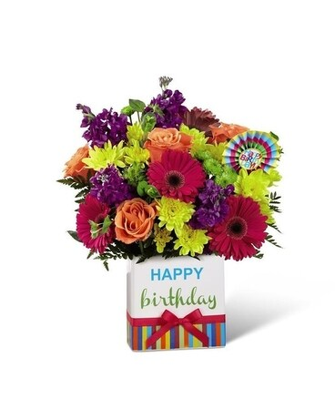 Birthday Brights Flower Arrangement