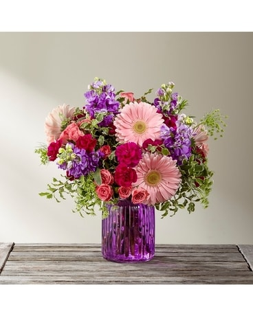 The Purple Prose Bouquet Flower Arrangement