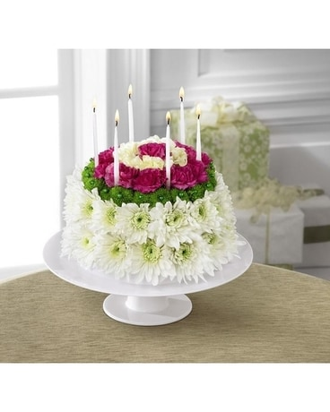 Super Birthday Surprise Floral Cake In Chicago Il Walls Flower Shop Inc Birthday Cards Printable Benkemecafe Filternl