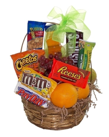 Fruit and Snack Basket Gift Basket