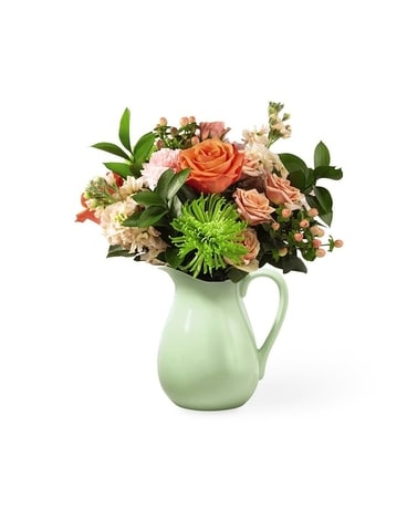 Pop of Color Pitcher Flower Arrangement