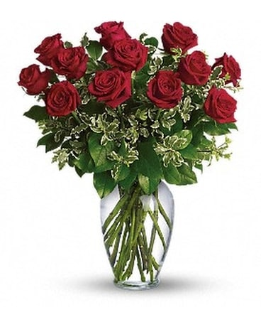 Debra's Always On My Mind - Long Stemmed Red Roses Flower Arrangement