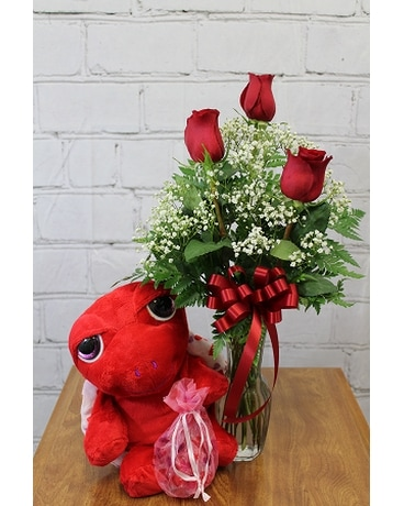 Turtley in Love Flower Arrangement