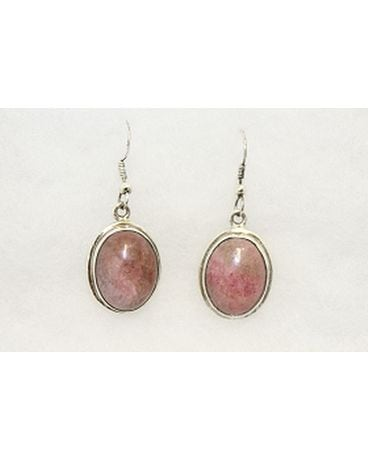 Rhodonite Earrings. Flower Arrangement