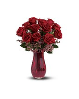Teleflora's Red Rose Dozen Bouquet Flower Arrangement