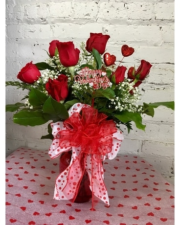 Red Hot Special Bouquet Flower Arrangement
