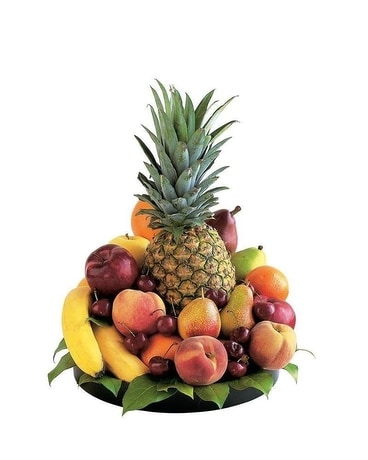 Delightful Fruit Tray Flower Arrangement