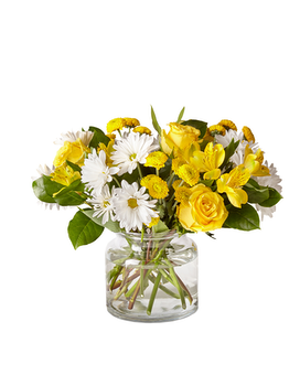 Sunny Sentiments Bouquet Flower Arrangement