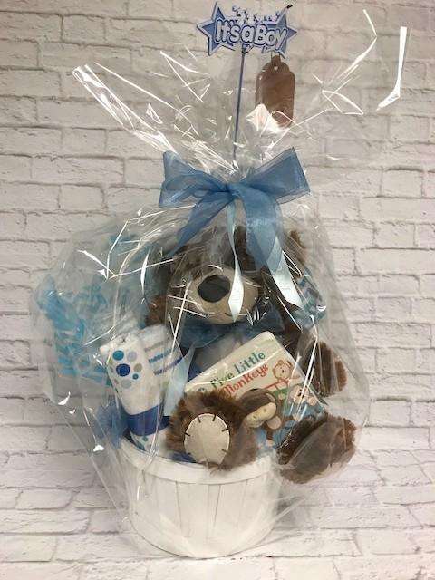 Baby Boy Cuddle Basket